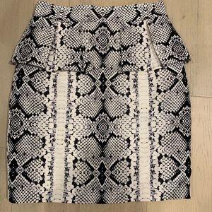 Snake print pencil skirt